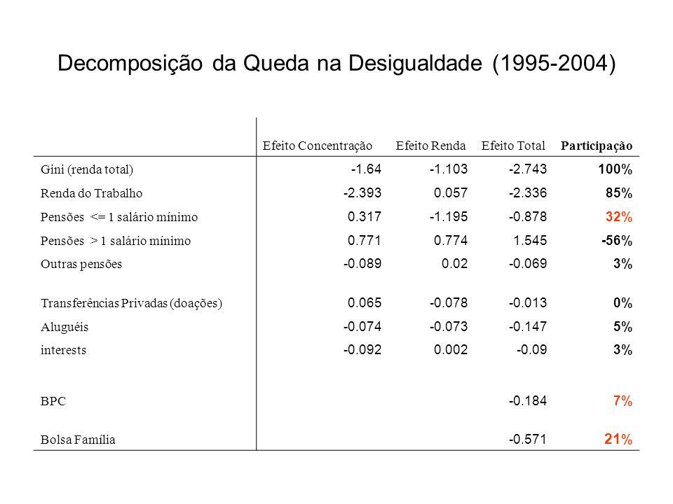 Decomposição da Queda na Desigualdade (1995-2004)