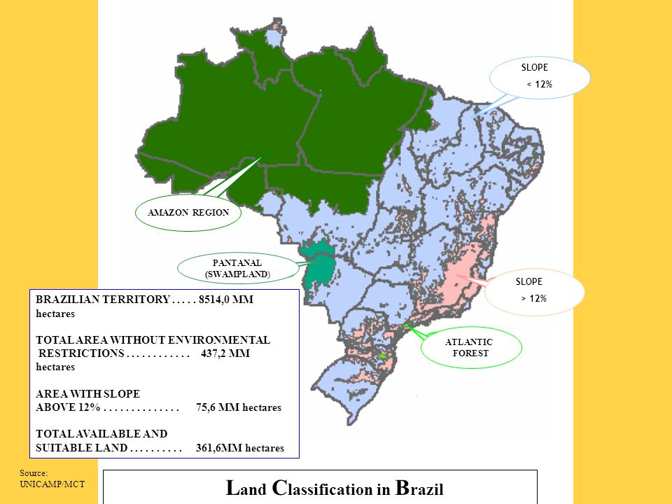 Land Classification in Brazil