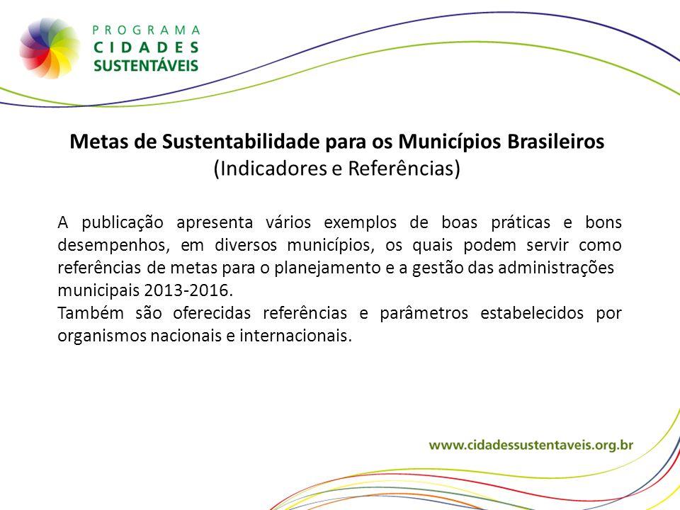 Metas de Sustentabilidade para os Municípios Brasileiros
