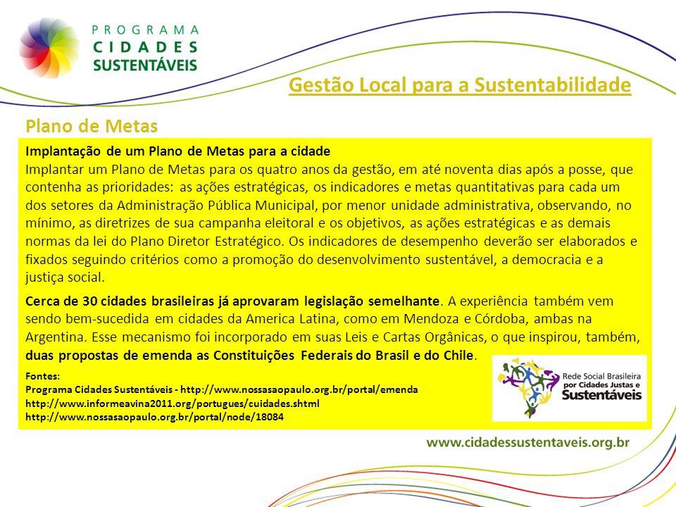 Gestão Local para a Sustentabilidade