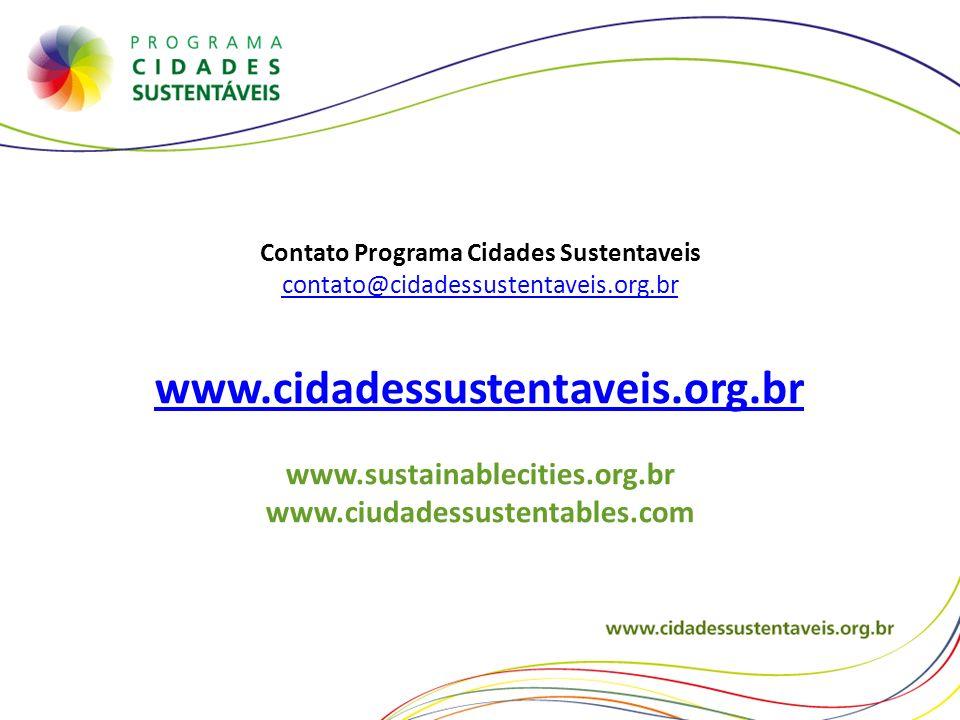 Contato Programa Cidades Sustentaveis