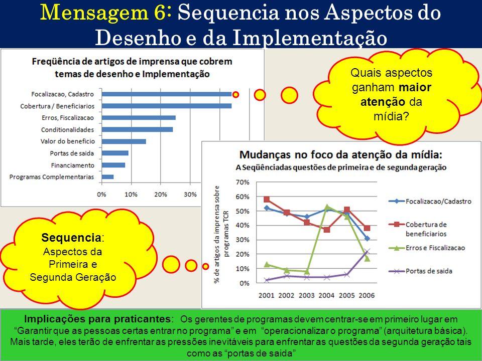 Mensagem 6: Sequencia nos Aspectos do Desenho e da Implementação