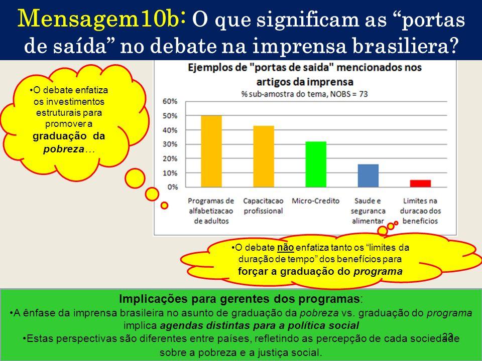 Mensagem10b: O que significam as portas de saída no debate na imprensa brasiliera