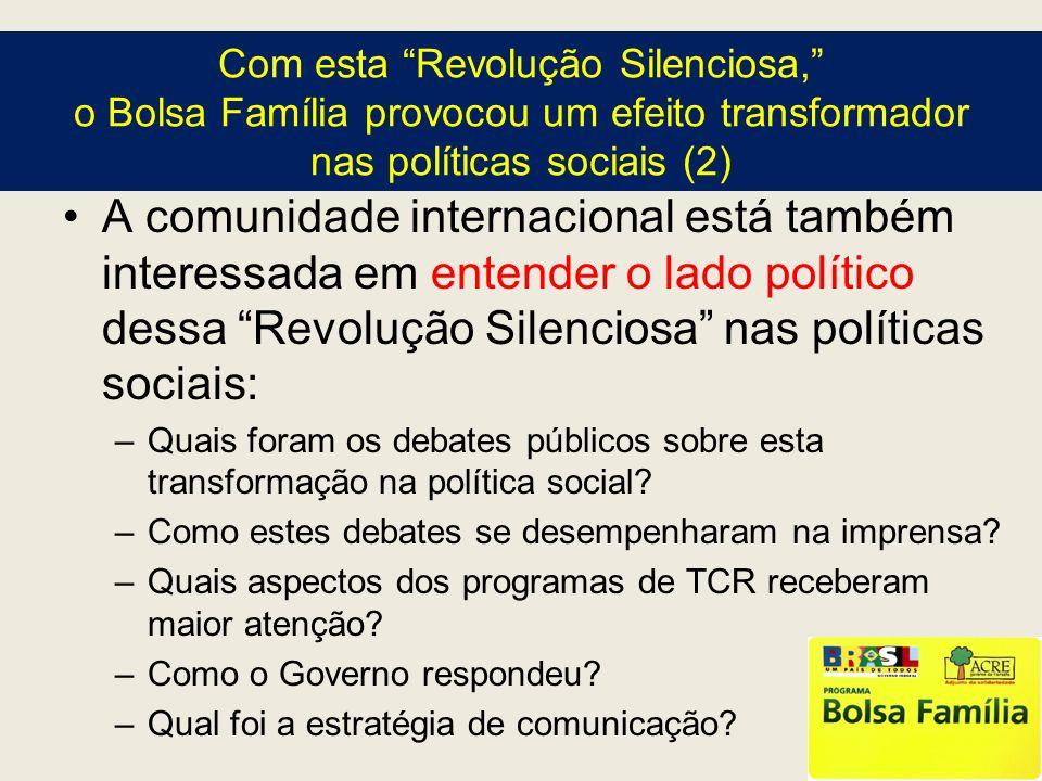 Com esta Revolução Silenciosa, o Bolsa Família provocou um efeito transformador nas políticas sociais (2)