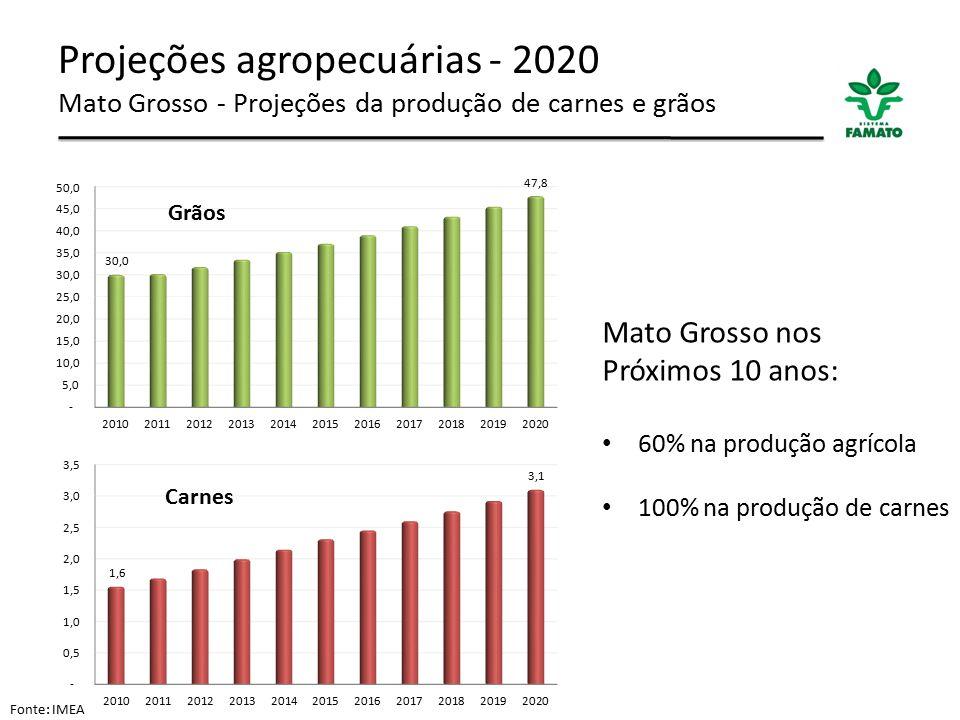 Projeções agropecuárias - 2020