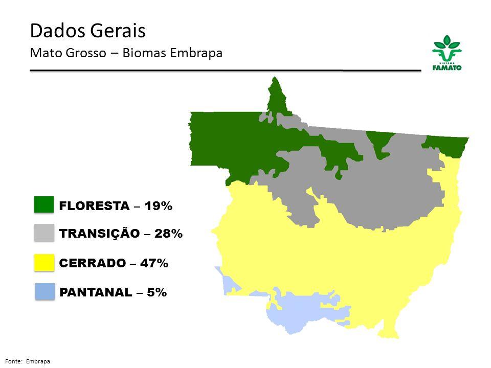 Dados Gerais Mato Grosso – Biomas Embrapa