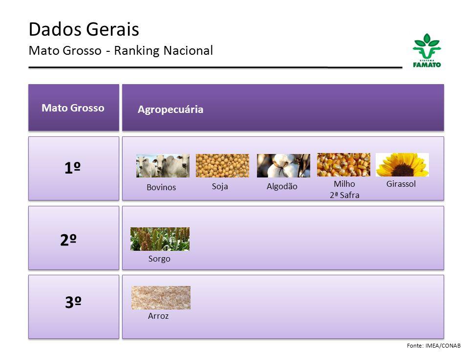 Dados Gerais Mato Grosso - Ranking Nacional