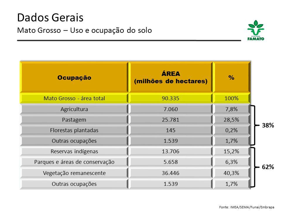 Dados Gerais Mato Grosso – Uso e ocupação do solo