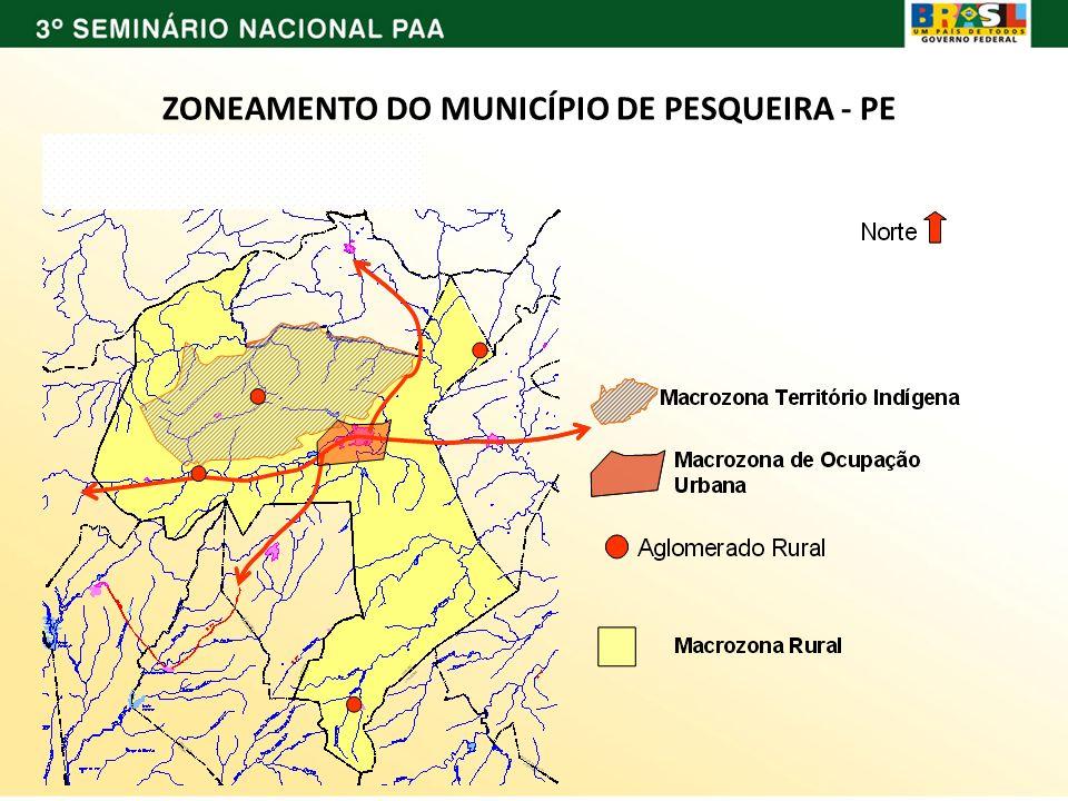 ZONEAMENTO DO MUNICÍPIO DE PESQUEIRA - PE