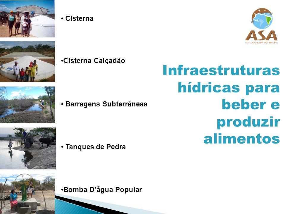 Infraestruturas hídricas para beber e produzir alimentos