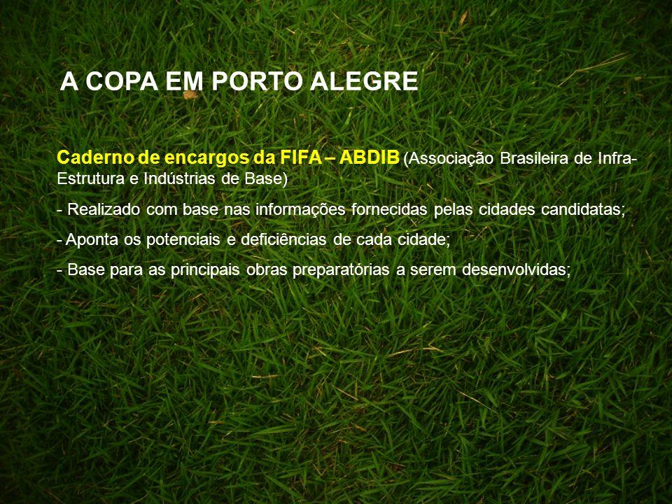 A COPA EM PORTO ALEGRE Caderno de encargos da FIFA – ABDIB (Associação Brasileira de Infra-Estrutura e Indústrias de Base)