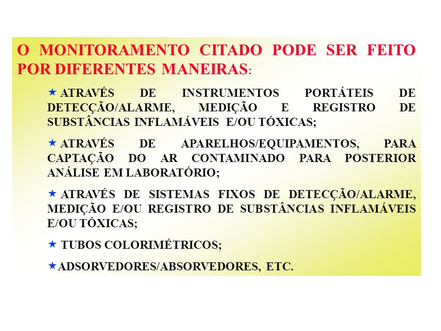 O MONITORAMENTO CITADO PODE SER FEITO POR DIFERENTES MANEIRAS:
