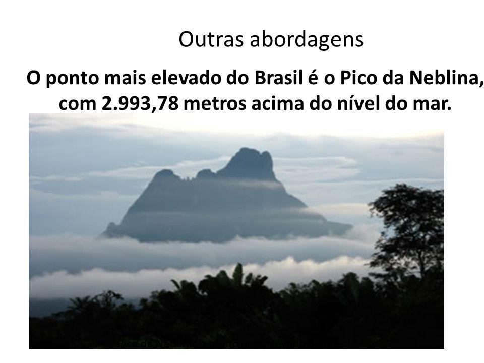 Outras abordagens O ponto mais elevado do Brasil é o Pico da Neblina, com 2.993,78 metros acima do nível do mar.