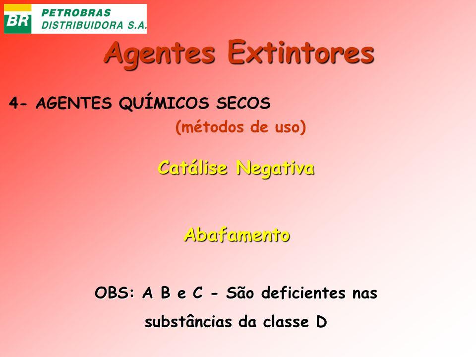 OBS: A B e C - São deficientes nas substâncias da classe D