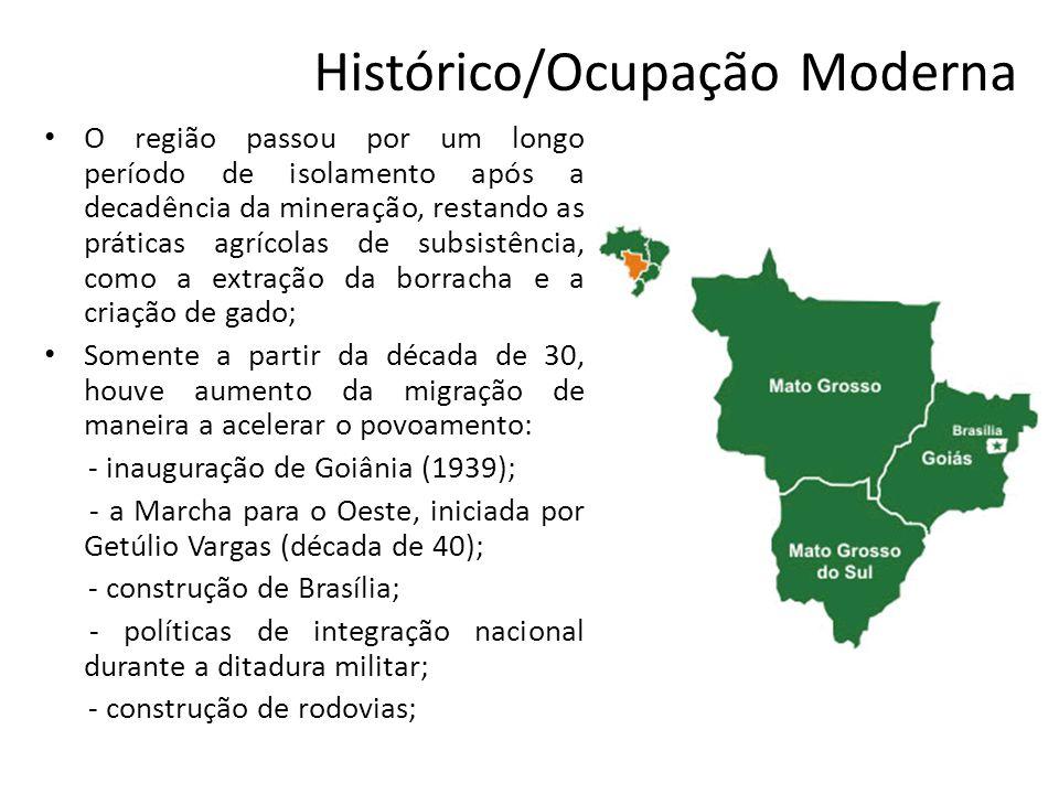 Histórico/Ocupação Moderna