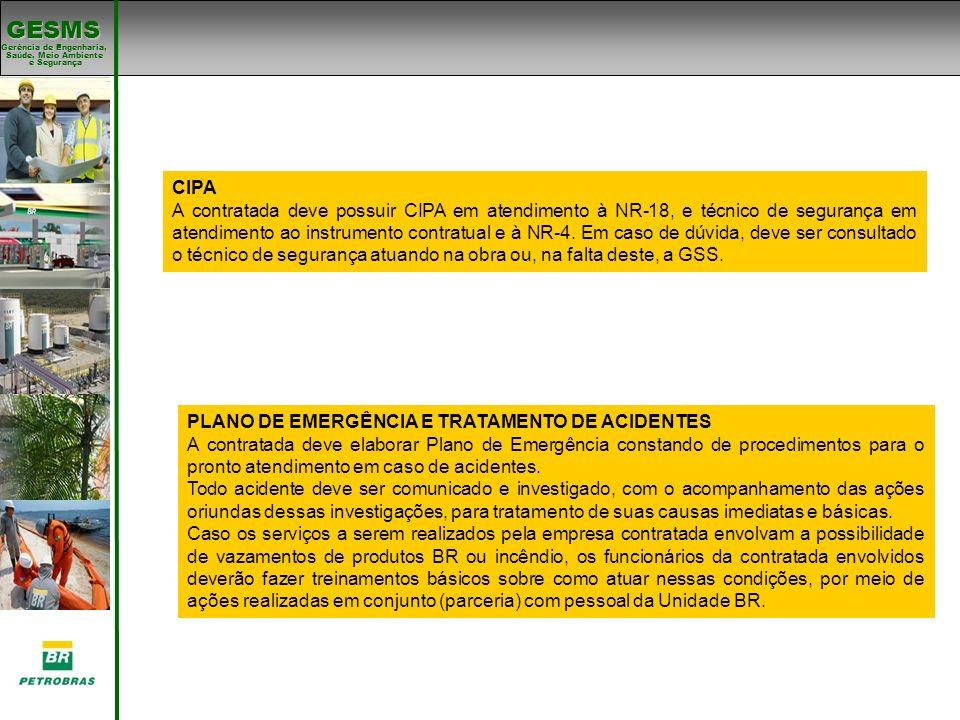 PLANO DE EMERGÊNCIA E TRATAMENTO DE ACIDENTES