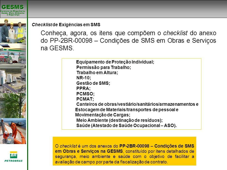Checklist de Exigências em SMS