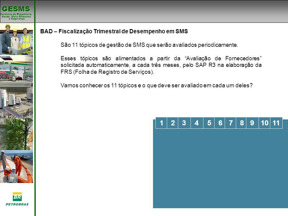 BAD – Fiscalização Trimestral de Desempenho em SMS