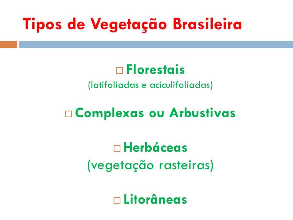 Tipos de Vegetação Brasileira