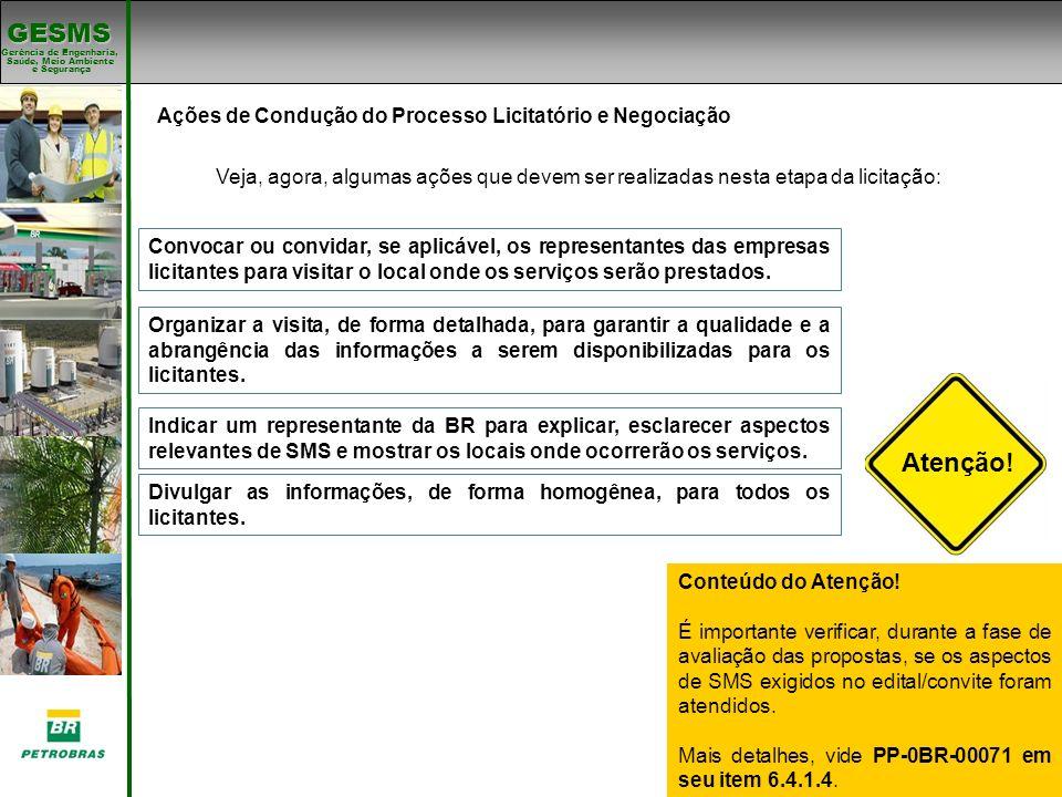 Atenção! Ações de Condução do Processo Licitatório e Negociação