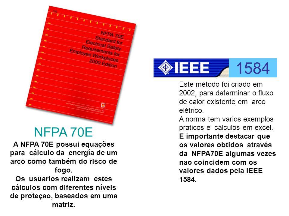 1584 Este método foi criado em 2002, para determinar o fluxo de calor existente em arco elétrico.
