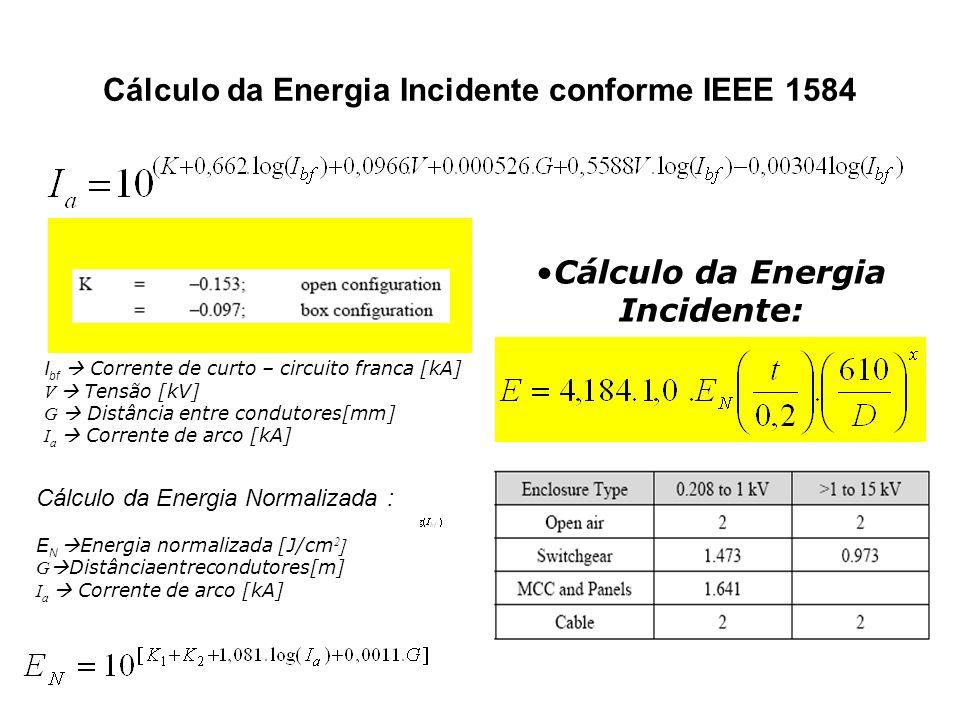 Cálculo da Energia Incidente conforme IEEE 1584