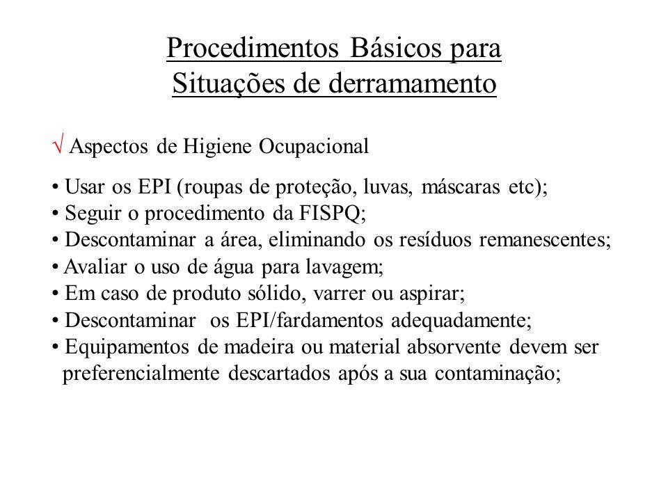 Procedimentos Básicos para Situações de derramamento