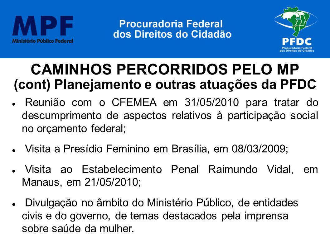 CAMINHOS PERCORRIDOS PELO MP