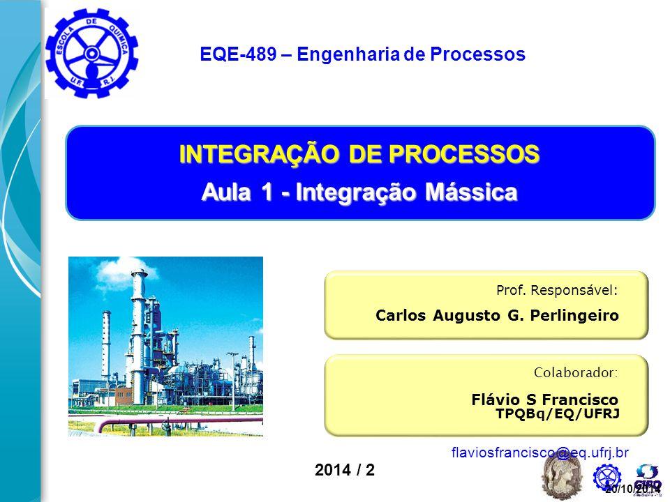 INTEGRAÇÃO DE PROCESSOS Aula 1 - Integração Mássica