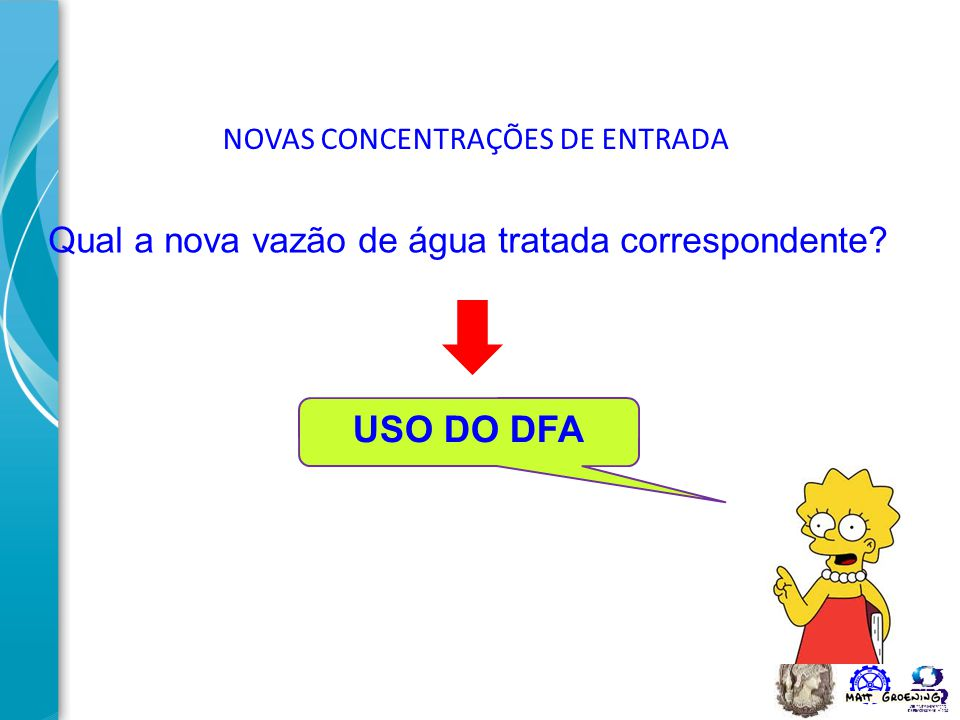 USO DO DFA Qual a nova vazão de água tratada correspondente