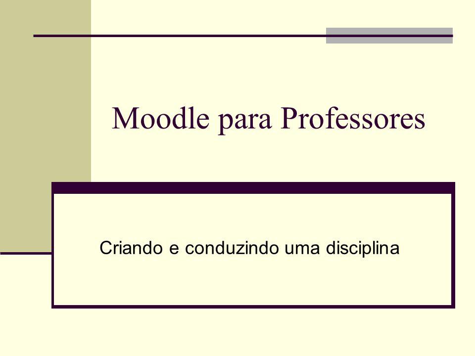 Moodle para Professores
