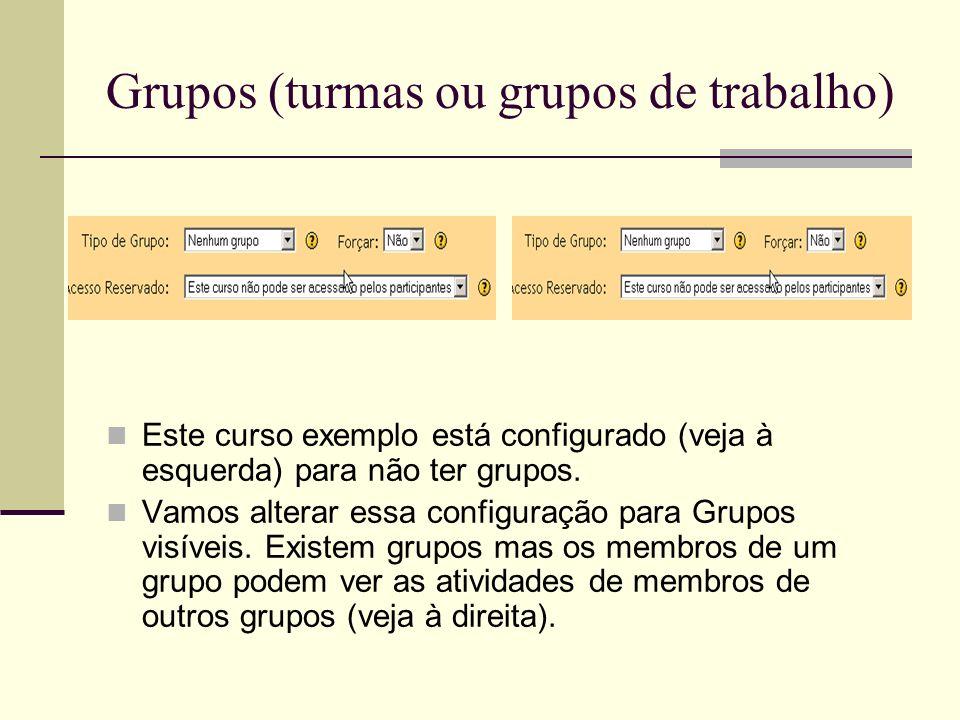 Grupos (turmas ou grupos de trabalho)