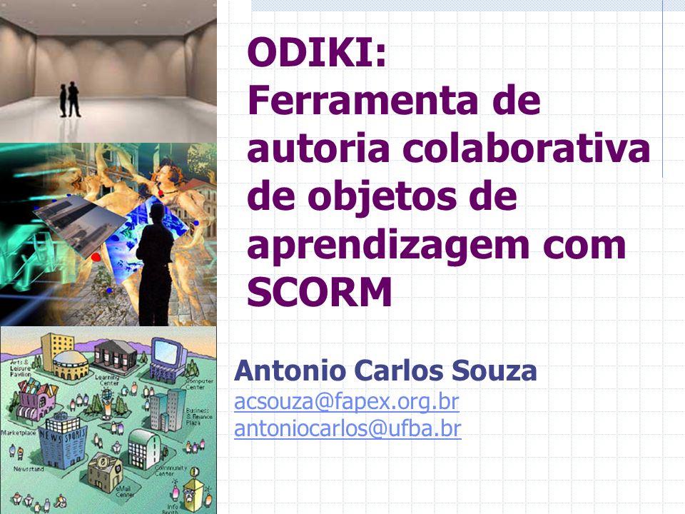 ODIKI: Ferramenta de autoria colaborativa de objetos de aprendizagem com SCORM