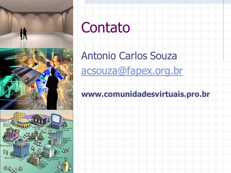 Contato Antonio Carlos Souza acsouza@fapex.org.br