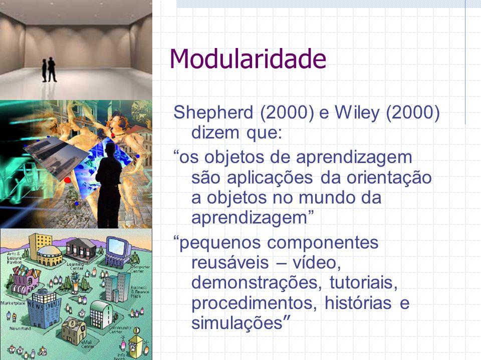 Modularidade Shepherd (2000) e Wiley (2000) dizem que: