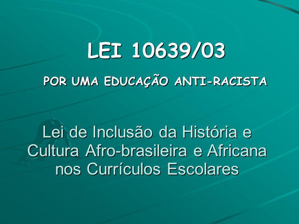 POR UMA EDUCAÇÃO ANTI-RACISTA