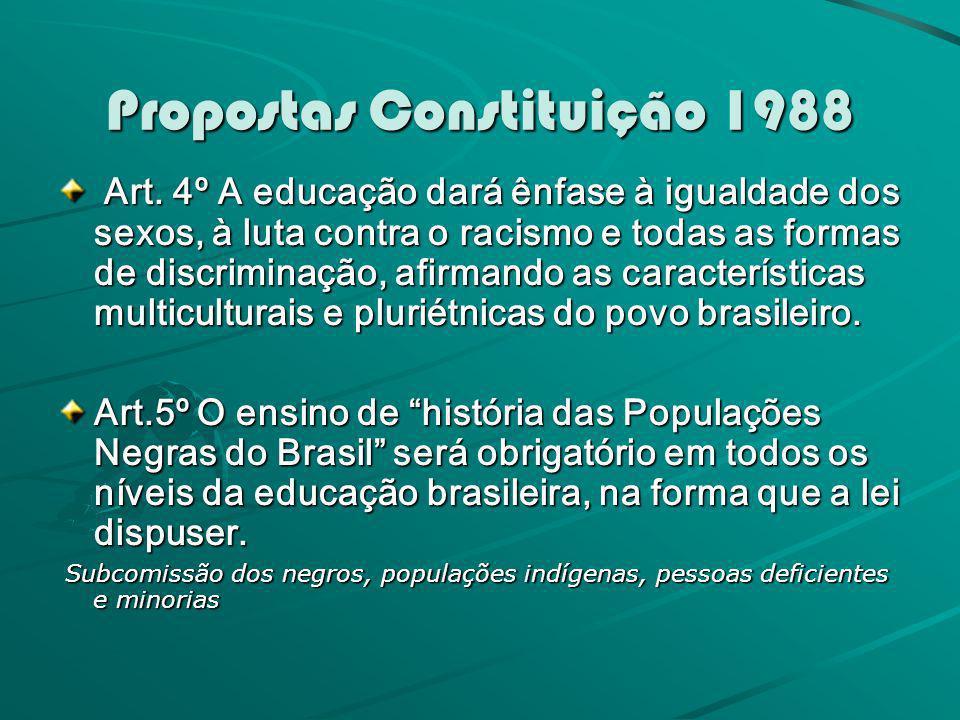 Propostas Constituição 1988