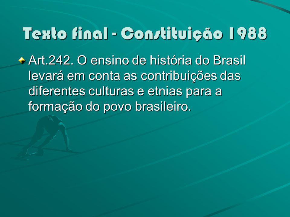 Texto final - Constituição 1988