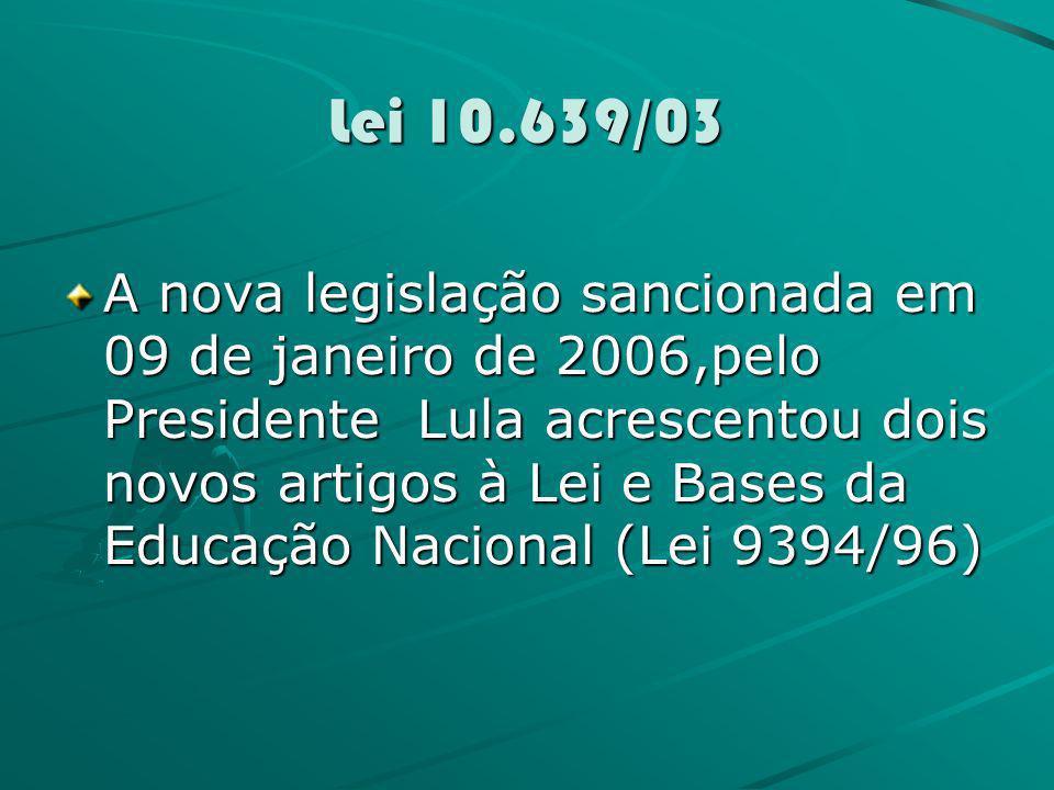 Lei 10.639/03
