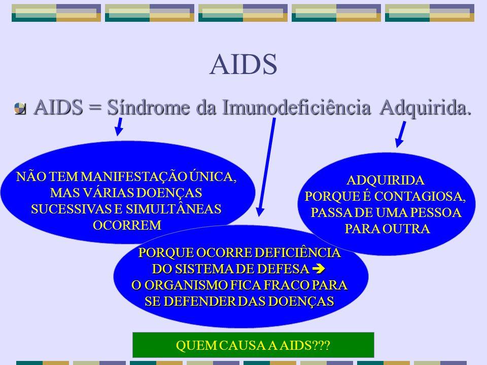 AIDS AIDS = Síndrome da Imunodeficiência Adquirida.