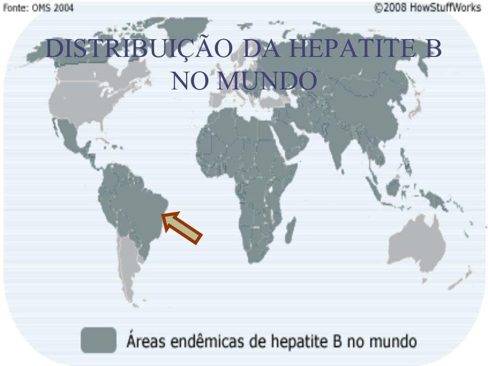 DISTRIBUIÇÃO DA HEPATITE B NO MUNDO