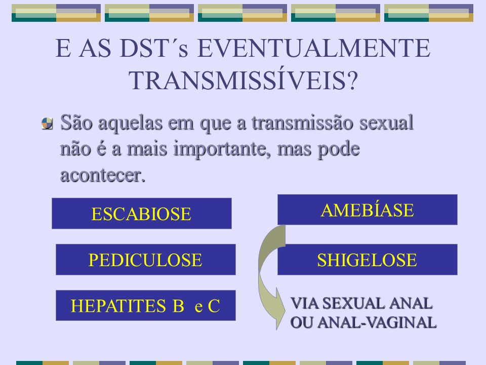 E AS DST´s EVENTUALMENTE TRANSMISSÍVEIS