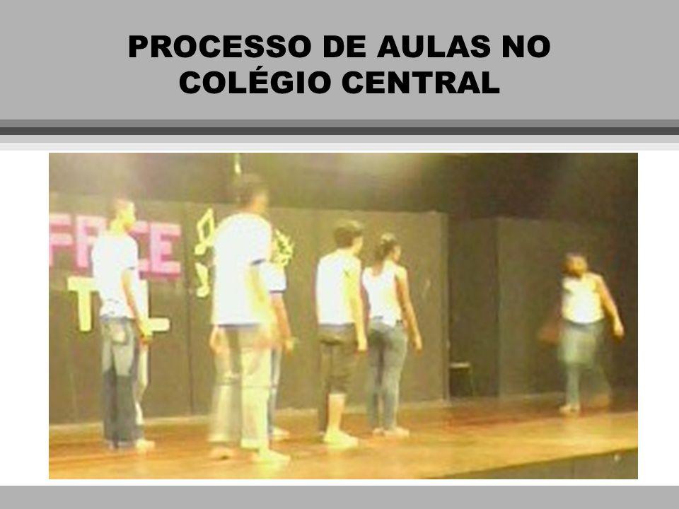 PROCESSO DE AULAS NO COLÉGIO CENTRAL