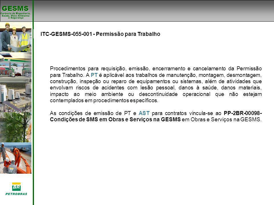 ITC-GESMS-055-001 - Permissão para Trabalho