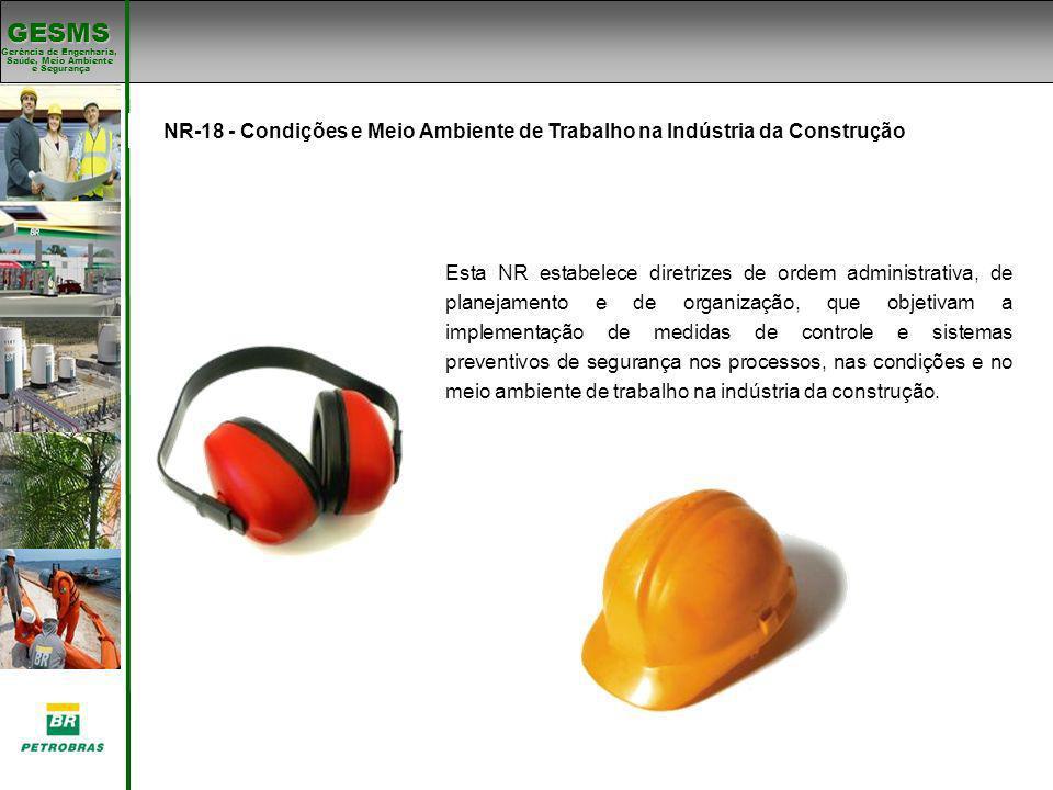 Padrões de SMS NR-18 - Condições e Meio Ambiente de Trabalho na Indústria da Construção. Padrões de SMS.