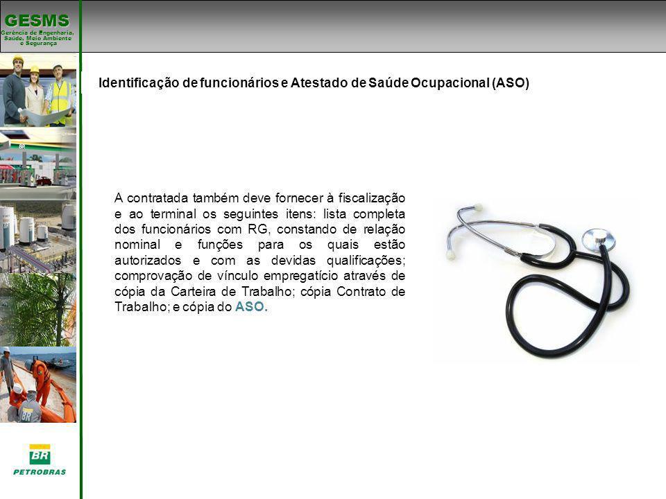 Identificação de funcionários e Atestado de Saúde Ocupacional (ASO)