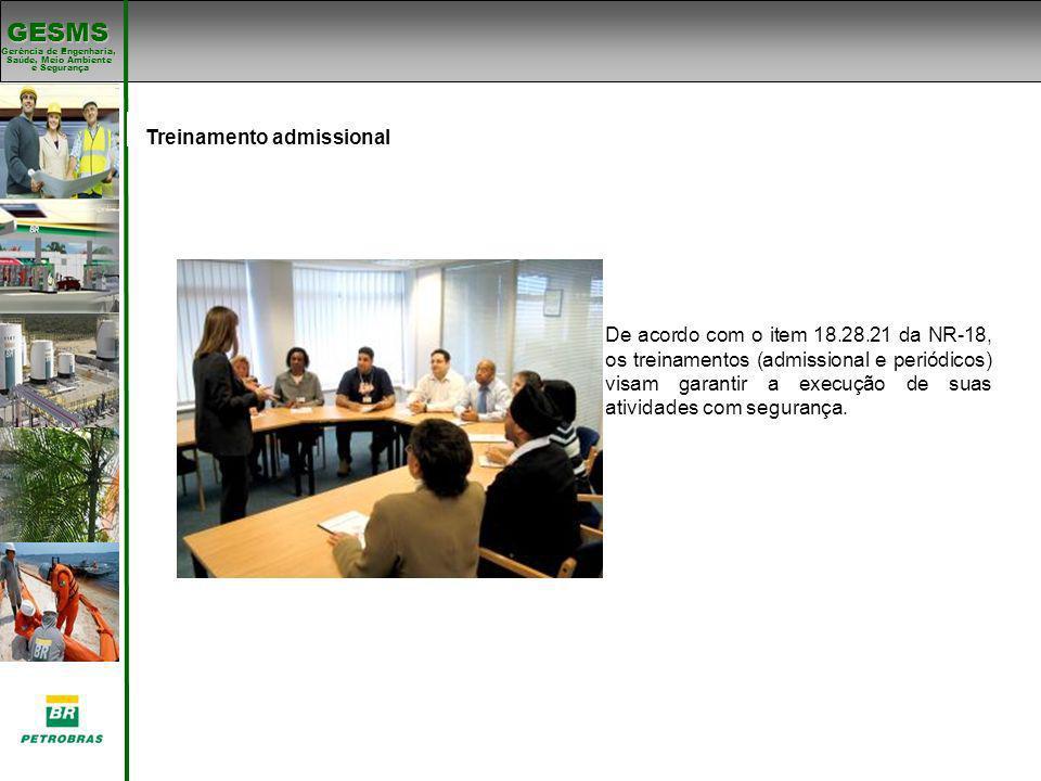 Treinamento admissional Padrões de SMS