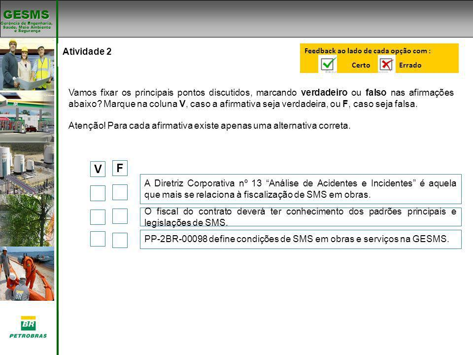 V F Atividade 2 Padrões de SMS