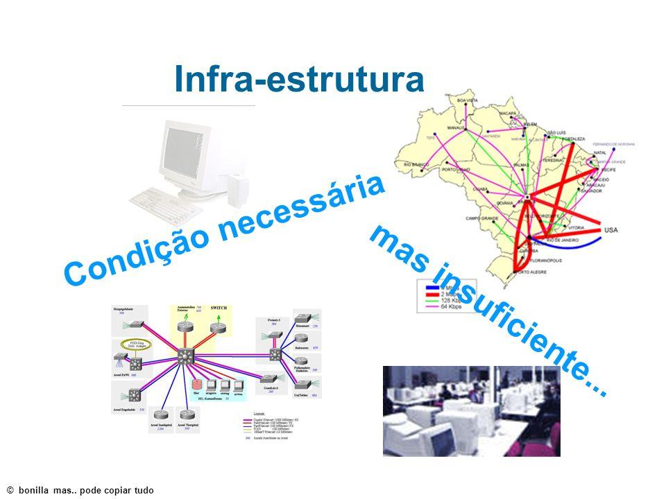 Infra-estrutura Condição necessária mas insuficiente...
