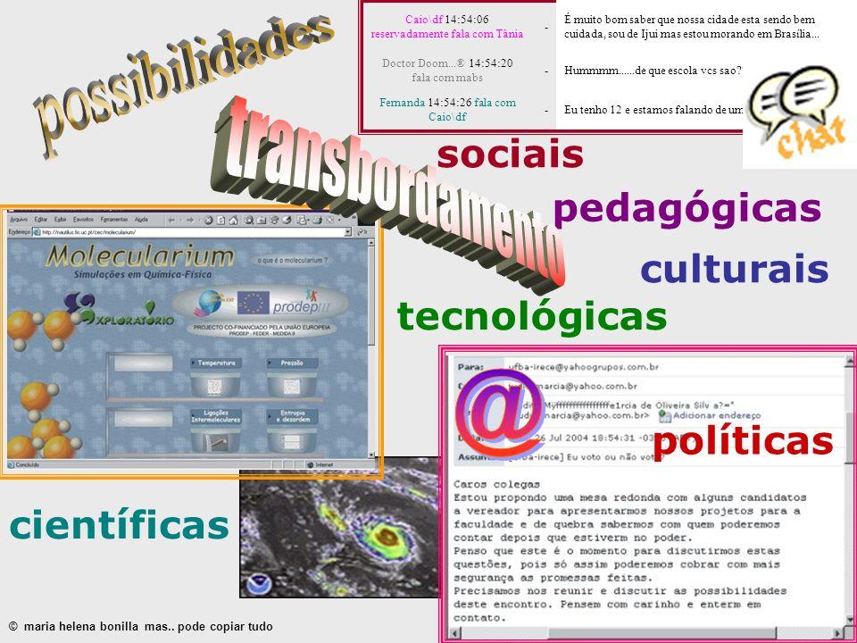possibilidades transbordamento @ sociais pedagógicas culturais